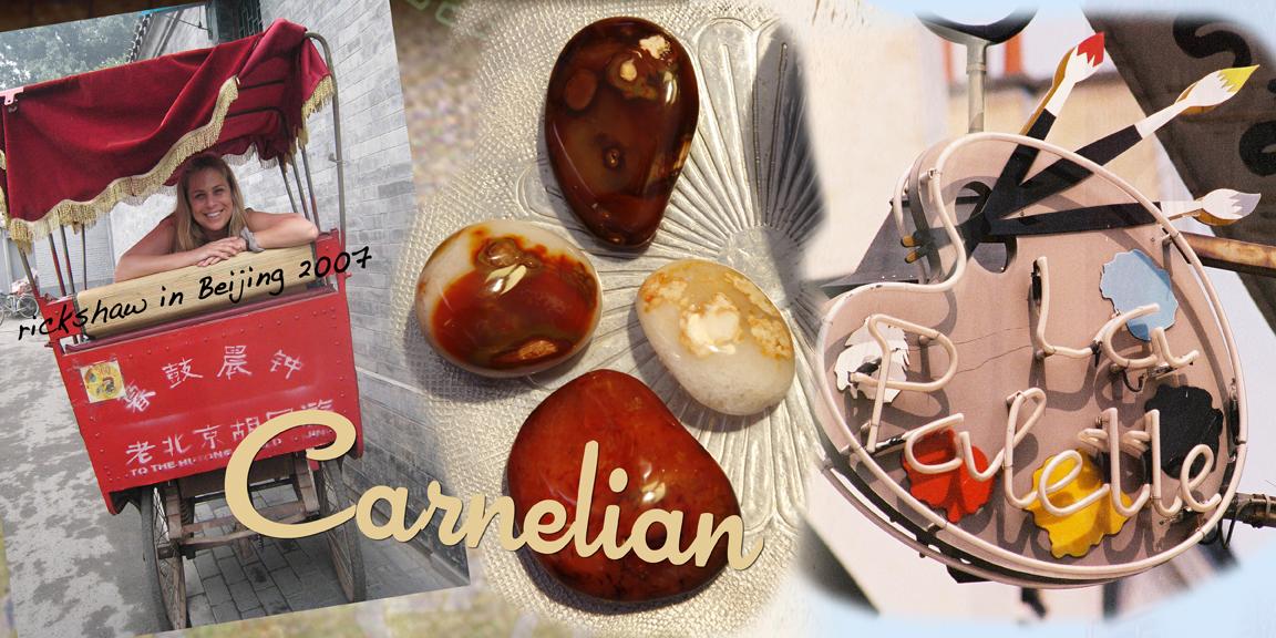Carnelian crystals
