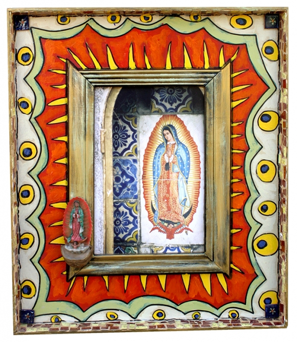 Mexican Virgin Mary Of Guadalupe By Anita Rosenberg